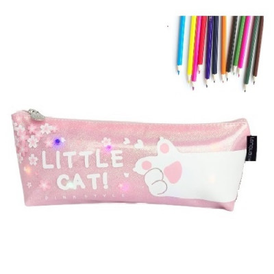 Cartuchera Gato Luz Led